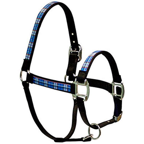 bluee Tartan Fashion Horse Halter