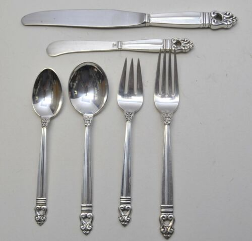 International Silver Royal Danish Sterling 6 Piece Place Setting No Mono 293g