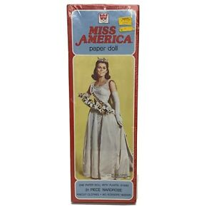Whitman-1980-Miss-America-Paper-Doll-Kit-31-Piece-Wardrobe-NEW-Sealed