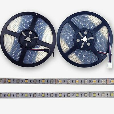 Whole Set 5/10/20/30M IP67 5PIN 5050 RGB(W) LED Strip 60LED/M(30RGB+30White) 12V