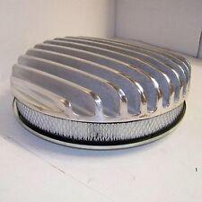 14 Deep Finned Billet Polished Air Cleaner fits Edelbrock Holley Carb hot rod