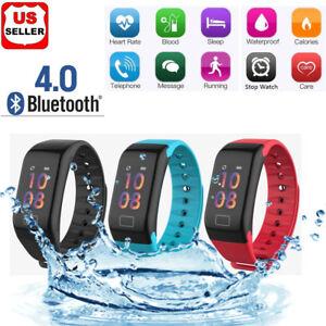 Sport-Blood-Pressure-Oxygen-Heart-Rate-Fitness-Smart-Watch-Wrist-Band-Bracelet-F