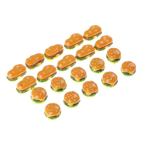 4Pcs Mini Hamburgers Miniature Food Models Dollhouse Accessories LDa!