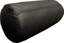Schwarz Nackenrolle Lederkissen 35x20 100% Echt Leder Sofa Couch Nackenkissen