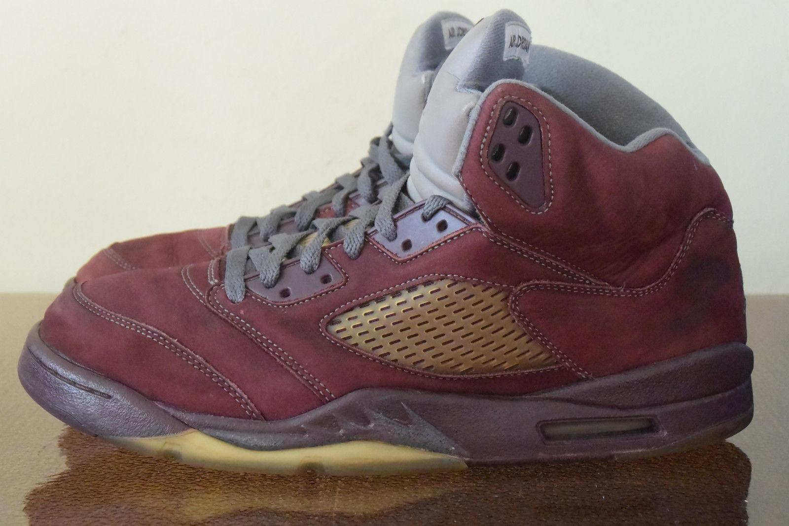 44fbdaf72f8 Nike Air Jordan V 5 Retro LS Graphite Silver 314259-602 Sz 10.5 Deep  Bergundy nxkqpo3253-Athletic Shoes
