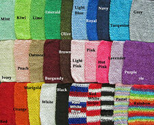 "Wholesale Lot of (10) 6"" Crochet Waffle Headbands~ Tutu Tops"