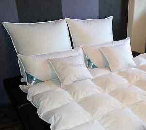 kopfkissen kissen daunenkissen f llung 60 daunen 1380gramm 1st ck preis 80x80cm ebay. Black Bedroom Furniture Sets. Home Design Ideas