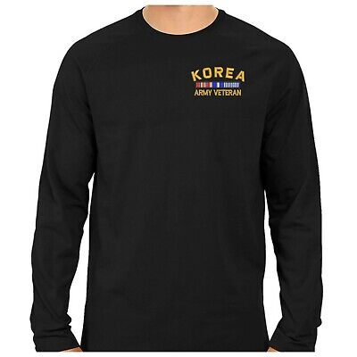 Black Cuffless Long sleeve Tee Shirt with Embroidered USS CORAL SEA CV-43