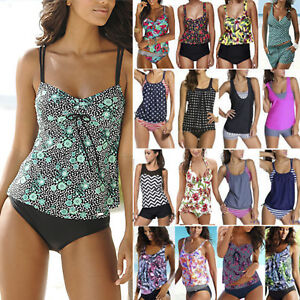 Womens-Push-Up-Tankini-Bikini-Set-Swimsuit-Bathing-Suit-Swimwear-Beachwear-Size