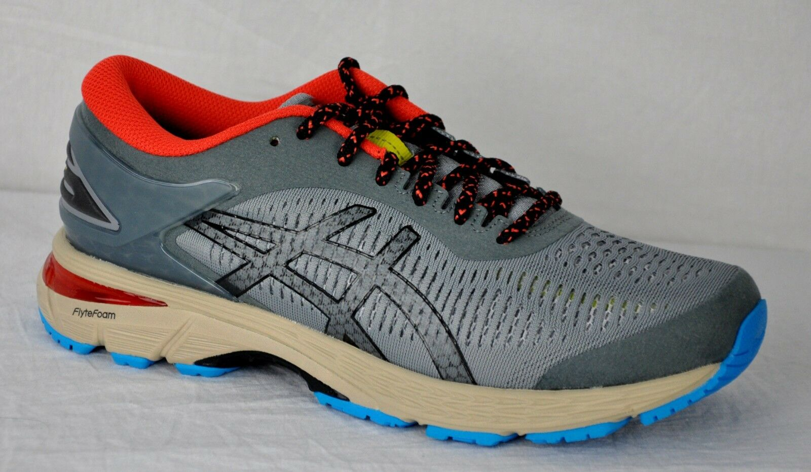 Asics Men's Gel Gel Gel Kayano 25 Trail Running shoes 1021A128 Stone Grey Blk Size 10 c3cff9