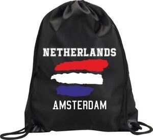 BACKPACK-BAG-AMSTERDAM-NETHERLANDS-HOLLAND-GYM-HANDBAG-SPORT-M1