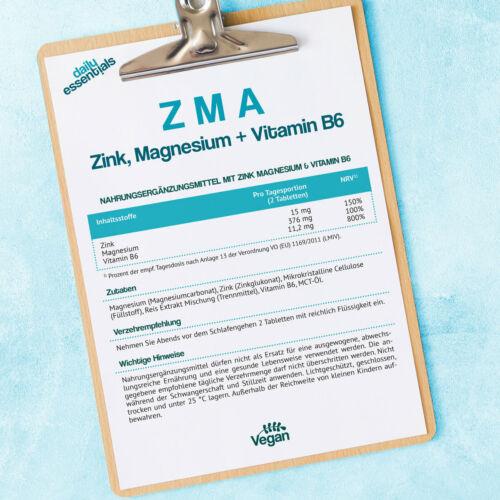 Hochdosiert Vegan Muskelaufbau Testosteron HGH Großpackung ZMA 250 Tabletten