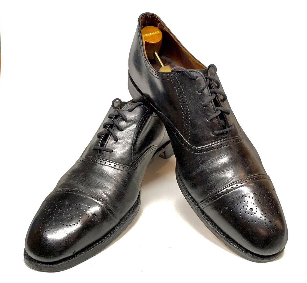 Tamaño 11.5 Royal Tweed Cheaney Of Inglaterra Zapatos Negros personalizado de grado Semi Brogue