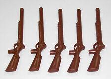 5 rifles marrón Playmobil rifle a ACW soldado casacas franceses bayoneta 1095