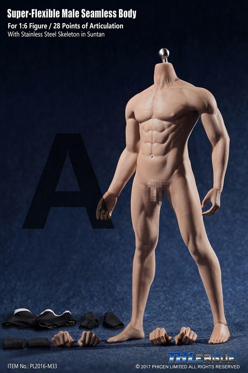 1 6 TBLeague Phicen Super Flexible Male sans soudure corps  avec de l'acier squelette M33  réduction en ligne