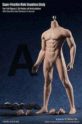 1//6 TBLeague M30 Flexible Seamless Male MUSCULAR Body Steel Skeleton PHICEN❶USA❶
