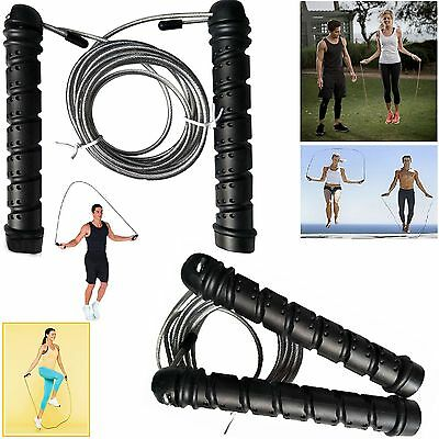 Methodisch Pro Weighted Speed Cable Skipping Jumping Rope Boxing Mma Fitness Gym Jump