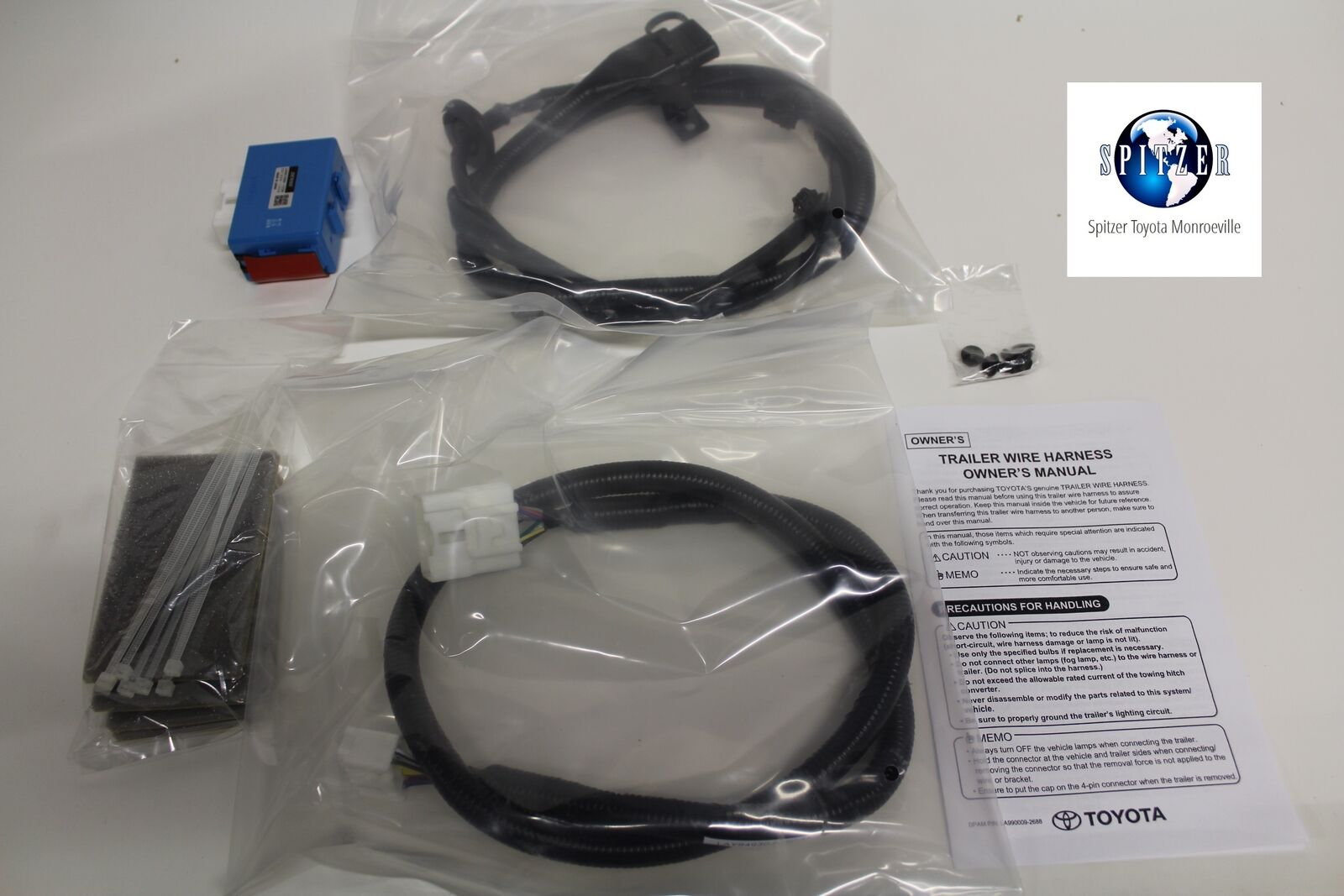 Toyota Genuine Pt725 48140 Towing Wire Harness