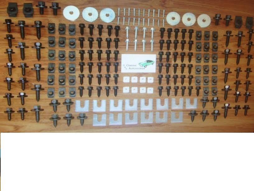 Front End Sheet Metal Hardware 210pc Kit for PONTIAC