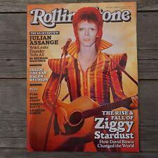 Rolling Stone Magazine David Bowie February 2012 Ziggy Stardust