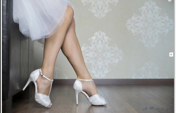 Bridal shoes 40 Heel 11 White Designer Shoes also available Ivory Satin