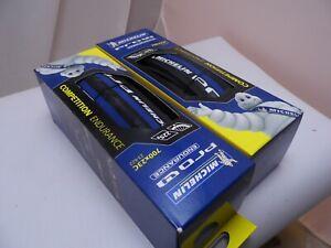2-X-Michelin-Pro4-endurance-Bleu-700-x-23-C-23-622-Pliable-Perle-Pneu