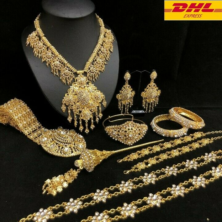 1 SET Traditional Set of Thai Bride Jewelry Occasional Wedding Stage Parade Show