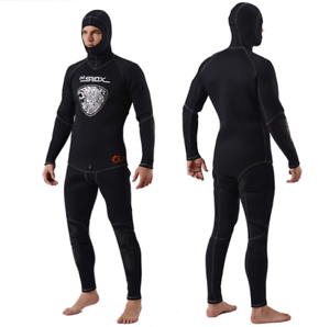 Men's 5mm Warm Hooded Diving Tops Pant Swim  Fishing Surfing Wetsuits Diving Suit  not to be missed!