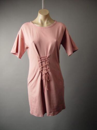 Details about  /Pink Obi Style Corset Lace Up Waist Cinch Cincher T-Shirt Tee 242 mv Dress S M L