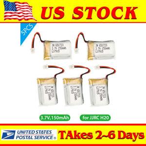 5Pcs-3-7V-150mAh-Li-Po-Battery-W-JST-1-25-Plug-for-JJRC-H20-Drone-Efficient-USA