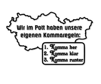 Auto Aufkleber Glück auf Ruhrpott Kohle Bergbau Car Sticker Fun Folie