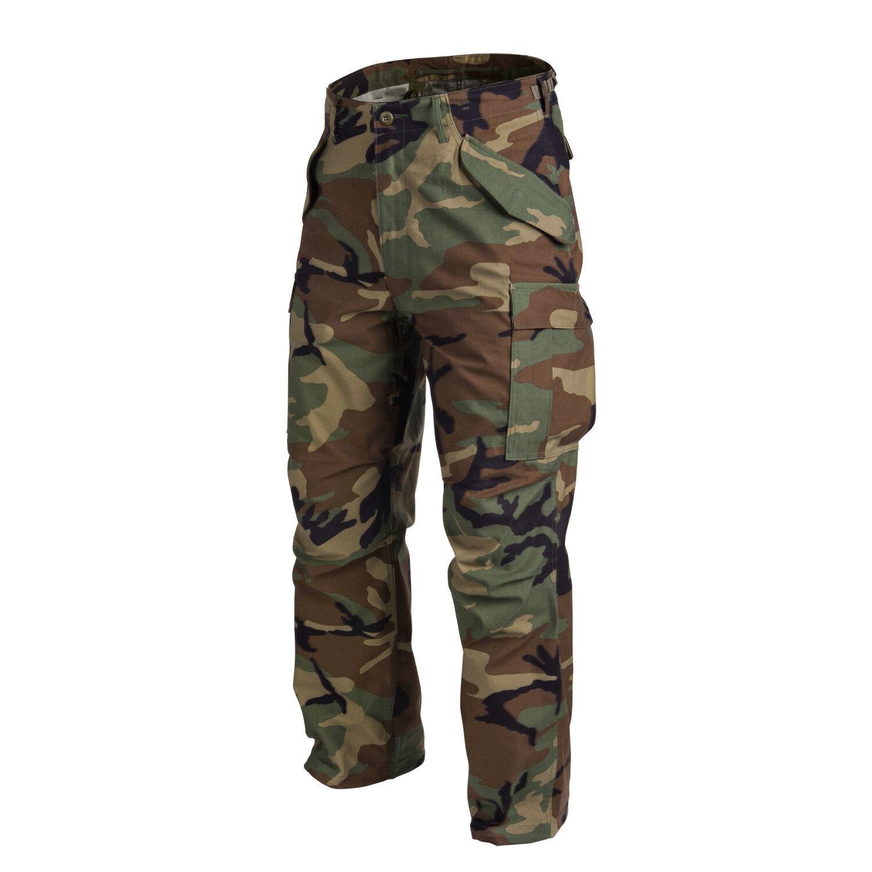 Helikon TEX US m65 Pantaloni Army Pantaloni campo REFORGER Woodle Mimetico MEDIUM regula