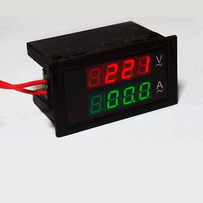 AC 300V 100A Dual Digital LED Amp Volt Meter Voltage Current 110V 220V 230v 24v