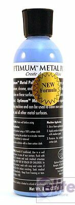 Optimum Metal Polish 8oz - 236ml - High shine on Ally Stainless Steel and Chrome