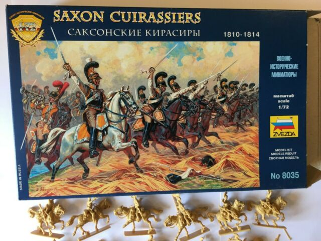 Saxon coraceros pesado caballería 1810-1814 napoleónicas período #8035 1/72 Zvezda