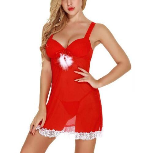 Details about  /Women Christmas Lingerie Underwear Sleepwear Nightdress Xmas Party Nightwear