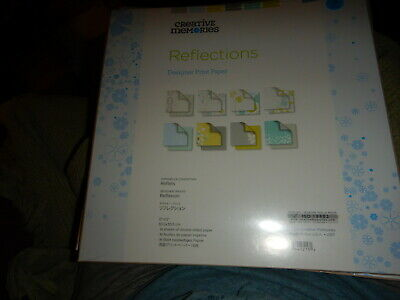 CREATIVE MEMORIES REFLECTIONS DESIGNER PAPER 12 X 12 NIP 16 SHEETS