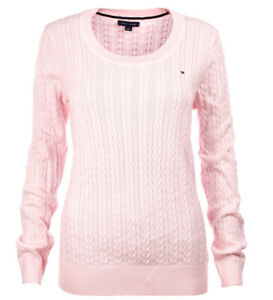 damen pullover tommy hilfiger crew womens jumper sweater knitted jumper cable  jumper sweater knitted jumper cable