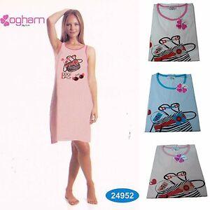 Camicia-da-notte-Canotte-con-Spalla-Larga-Donna-OGHAM-24952-100-Cotone