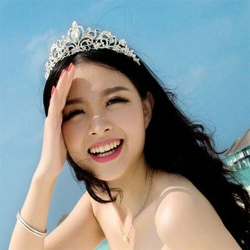 CW/_ Women Hollow Out Crown Rhinestone Bride Headband Tiara Wedding Headw EB/_ GI