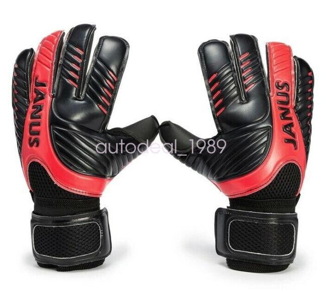 Janus Goalkeeper Goalie Keeper GK Gloves Roll Finger Soccer Size 6 7 8 9 10 NEW