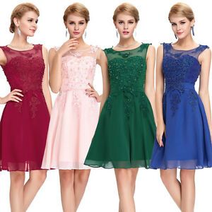 GK Homecoming Formal Ball Gown Party Cocktail Evening Prom Bridesmaid Mini Dress