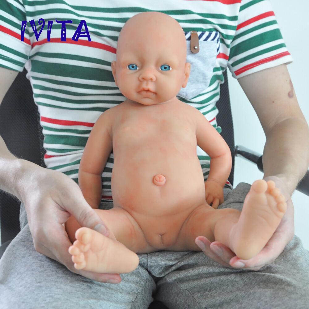 51cm Silicone Reborn Baby Girl Toddler Doll Realistic Silikon Mädchen Puppen