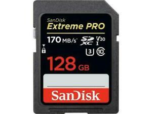 Sandisk-128gb-SDXC-Scheda-di-Memoria-Uhs-I-U3-Sd-170mb-Extreme-pro-4k-Classe-10