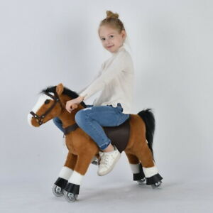 UFREE Action Pony Ride on horse with braids Small Size Present for Kid 3-6