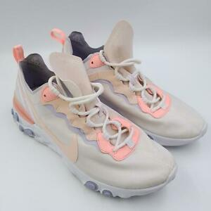 Nike React Womens White Lace Up Comfort Low Top Sneakers Athletic Shoes Size 10