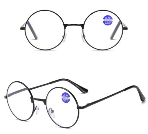 Lesebrille Lesehilfe Blaulichtfilter Blaufilter Edelstahl rund drei Farben