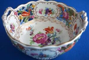 Vienna-Porcelain-Antique-Hand-Painted-Austrian-Basket-Bowl