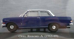 OPEL Rekord A - 1963 - blue - Atlas 1:43