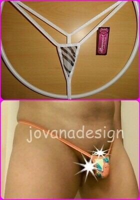 jovanadesign Extreme Small Micro Mens G-String Zebra See Thru Mesh//White  XS-XL
